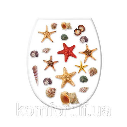 Крышка для унитаза Морские звезды 372-1 #PO