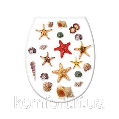 Крышка для унитаза Морские звезды 372-1 #PO, фото 2