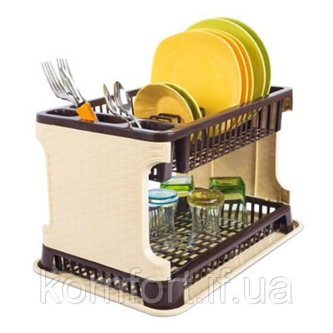 Сушка для посуды Rattan Tuffex TP-7071-1 #PO, фото 2