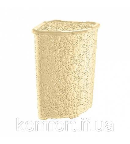 Корзина угловая для белья Dunya Motif 52 л 05015-430 #PO, фото 2