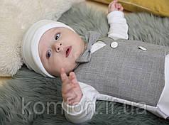 """Крестильный набор """"Джентльмен"""" 0-6 мес, фото 3"""