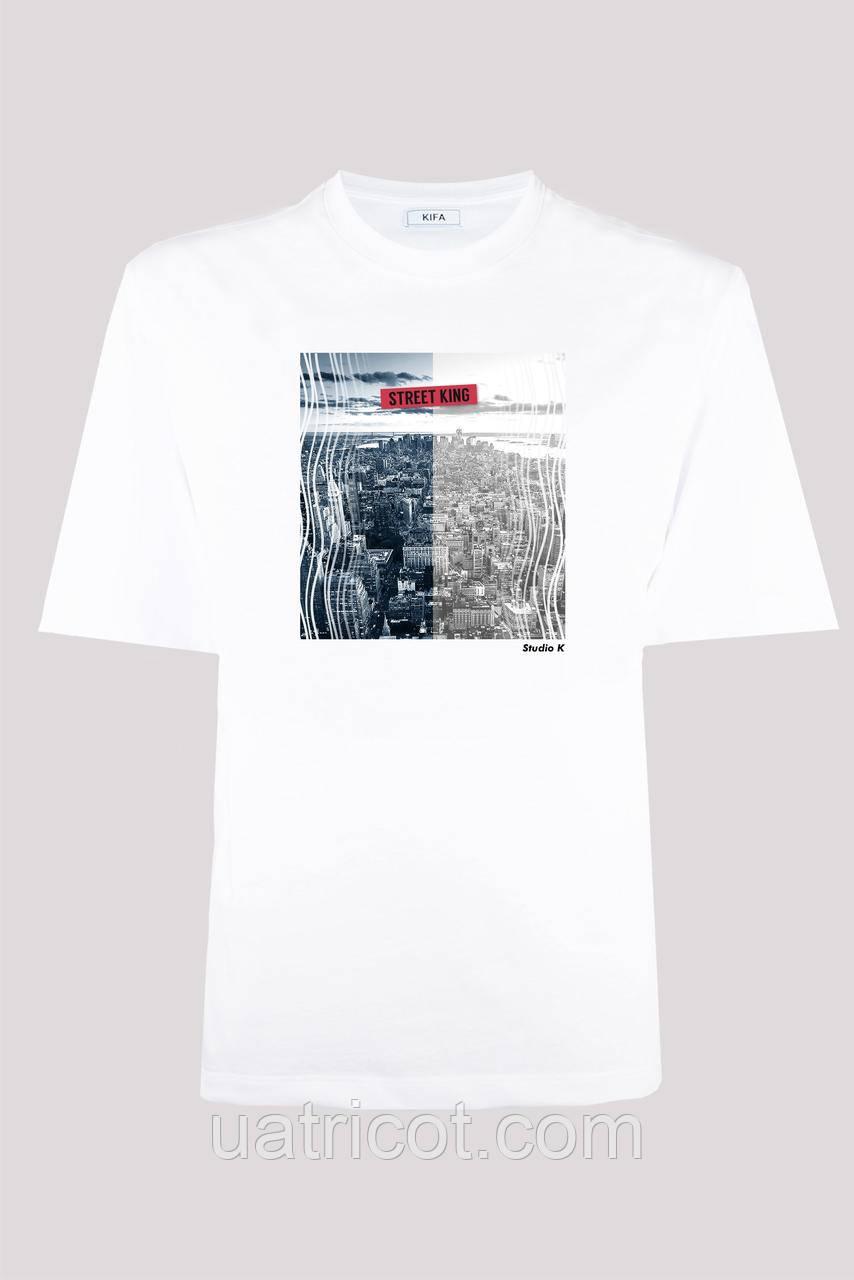Футболка мужская KIFA ФМХ-019/15 STREET KING белая