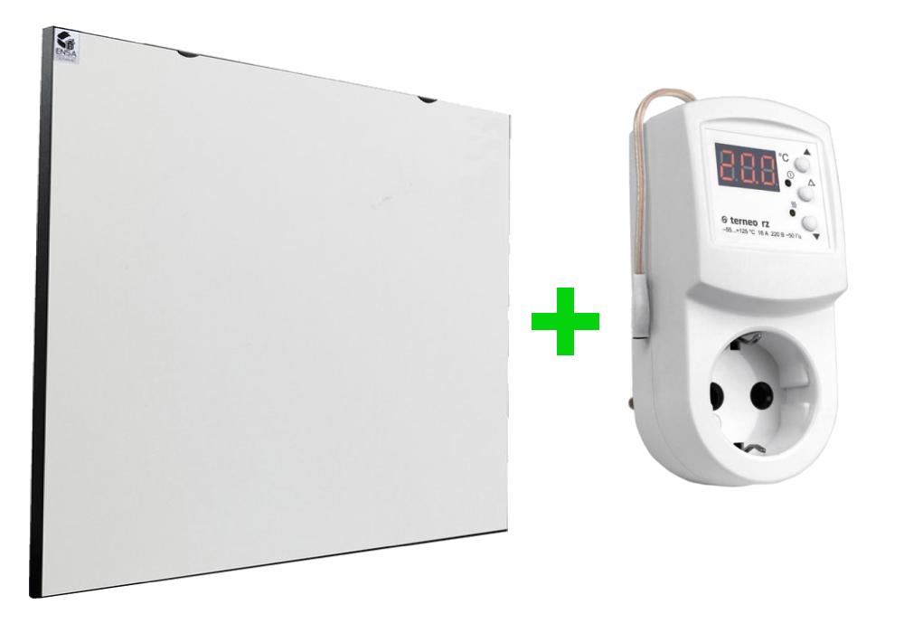 Обогреватель керамический ENSA cr500 с терморегулятором Terneo RZ (P=500Вт, S=10м2)