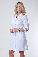 Женский медицинский халат  с зеленой вставкой