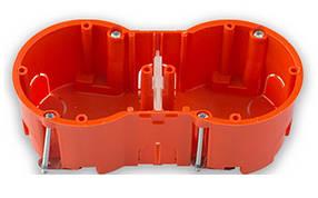 Коробка монтажная Bylectrica двойная для полых стен 136 х 66 х 47.7 мм (02-58-25)