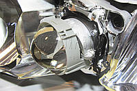 Toyota Highlander - замена галогенных линз на светодиодные Bi-Led