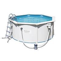 Сборный каркасный бассейн для дома Bestway 56563 (300х120)см