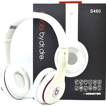 Наушники беспроводные Monster Beats HD S460 Bluetooth (MP3, FM, AUX, Mic) белые (копия Beats)