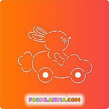 Трафарет + форма Заяц на морковке
