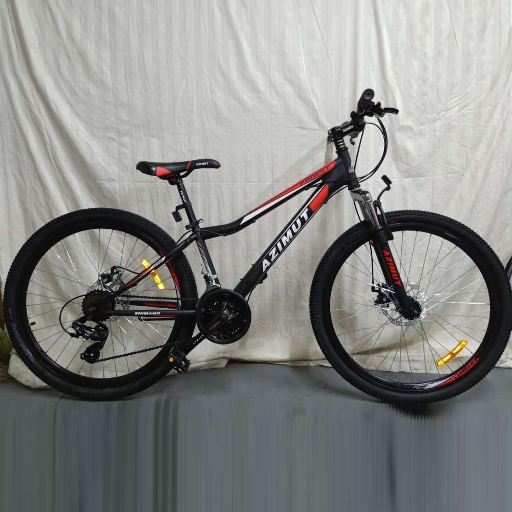 """Велосипед 2-х кол. Azimut Forest G-FR/D 24"""" красно-черный противоударные обода"""