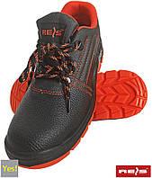 Полуботинки рабочие c металлическим подноском REIS RAW POL Польша (туфли рабочие) BRYESK-P-SB