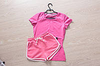 Футболка и шорты (летний костюм), розовый
