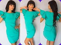 Платье мини летнее с рукавами крылышками в черырех расцветках 576