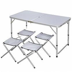 Складной туристический стол для пикника+4 стула (481)