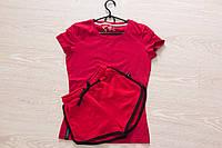 Футболка и шорты (летний костюм), красный