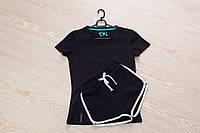 Футболка и шорты (летний костюм), черный