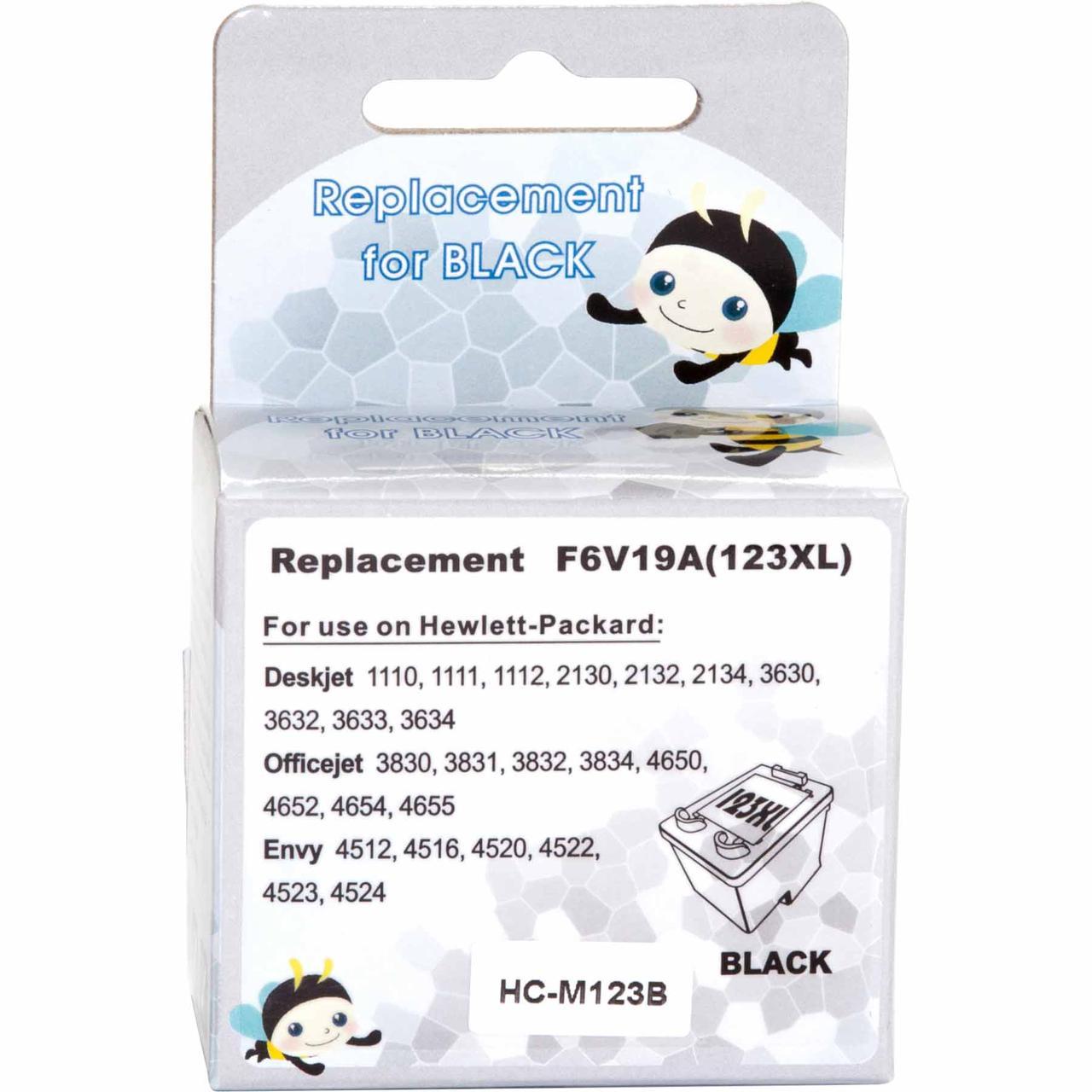 Картридж MicroJet для HP DJ 2130 аналог HP №123XL Black (HC-M123B) повышенной емкости