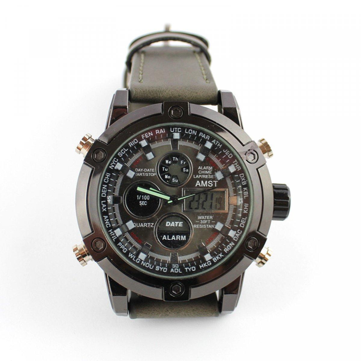Кварцевые часы Amst watch AM3022 коричневые