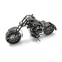"Статуэтка мотоцикл Техно-арт ""Байк Чоппер"" металл (длина 25 см)"