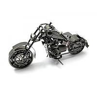 "Статуэтка мотоцикл Техно-арт ""Байк Чоппер"" металл (длинна 25 см)"