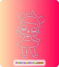 Трафарет + форма Кукла Лол №9