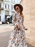 Женское платье-рубашка с цветочный принтом, фото 2