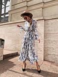 Женское платье-рубашка с цветочный принтом, фото 3