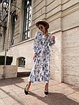 Женское платье-рубашка с цветочный принтом, фото 4