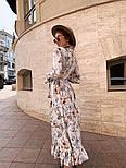 Женское платье-рубашка с цветочный принтом, фото 5