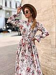 Женское платье-рубашка с цветочный принтом, фото 6