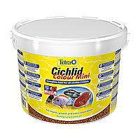 Сухой корм для аквариумных рыб  в гранулах Tetra Cichlid Colour Mini 10л (для небольших цихлид)