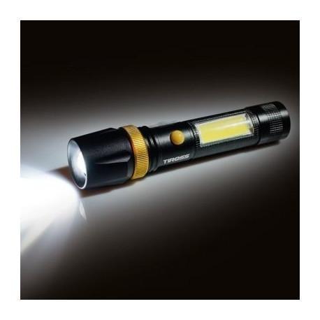 Фонарь ручной Tiross TS-1886 CREE LED T6 XML 10W 450lm + 3W COB 250lm