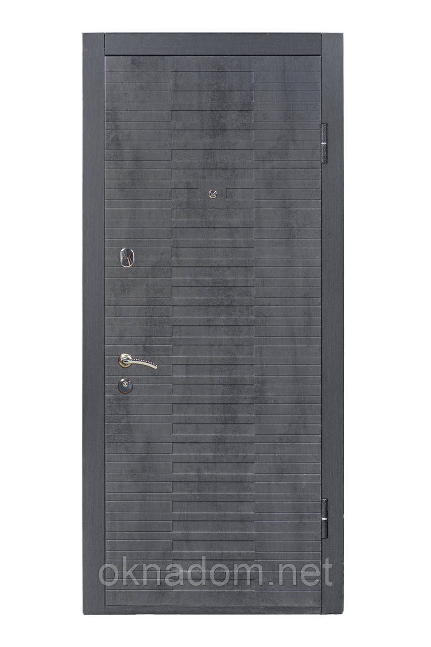 """Входная дверь """"МИНИСТЕРСТВО ДВЕРЕЙ"""" ПK-119 Q  Бетон темный/бетон пепельный"""