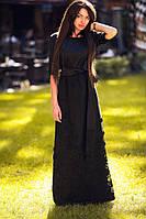Нарядное платье в пол из атласа-органзы  01270