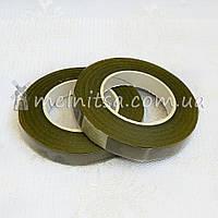 Флористическая тейп-лента, 1,2 см, травяной (хаки)