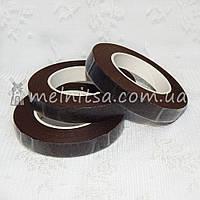 Флористическая тейп-лента, 1,2 см, коричневый