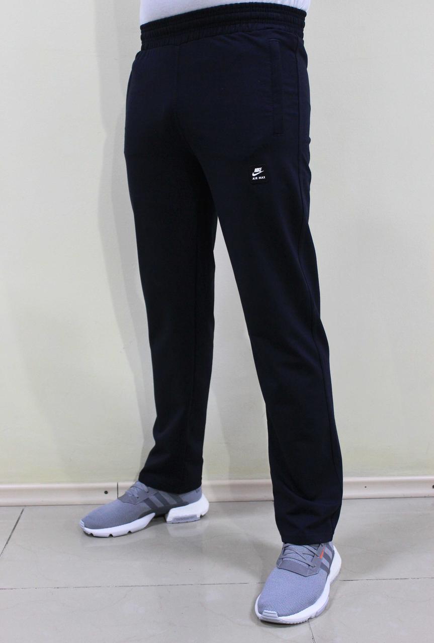 Мужские синие трикотажные спортивные штаны прямые (Реплика)