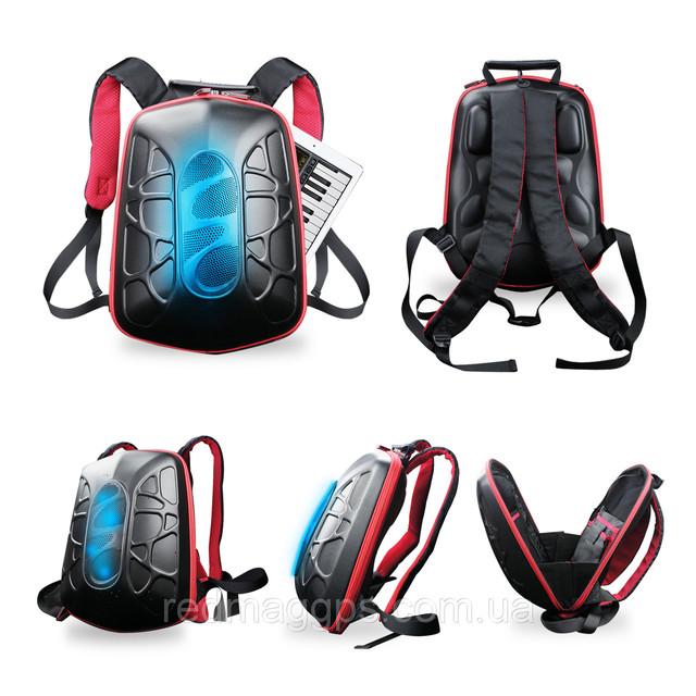 Противоударный рюкзак со встроенными стереодинамиками и powerbank!