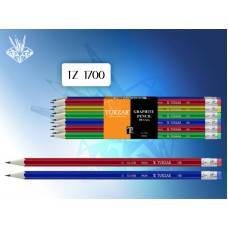 TZ 1700 Чернографитный карандаш с ластиком TUKZAR