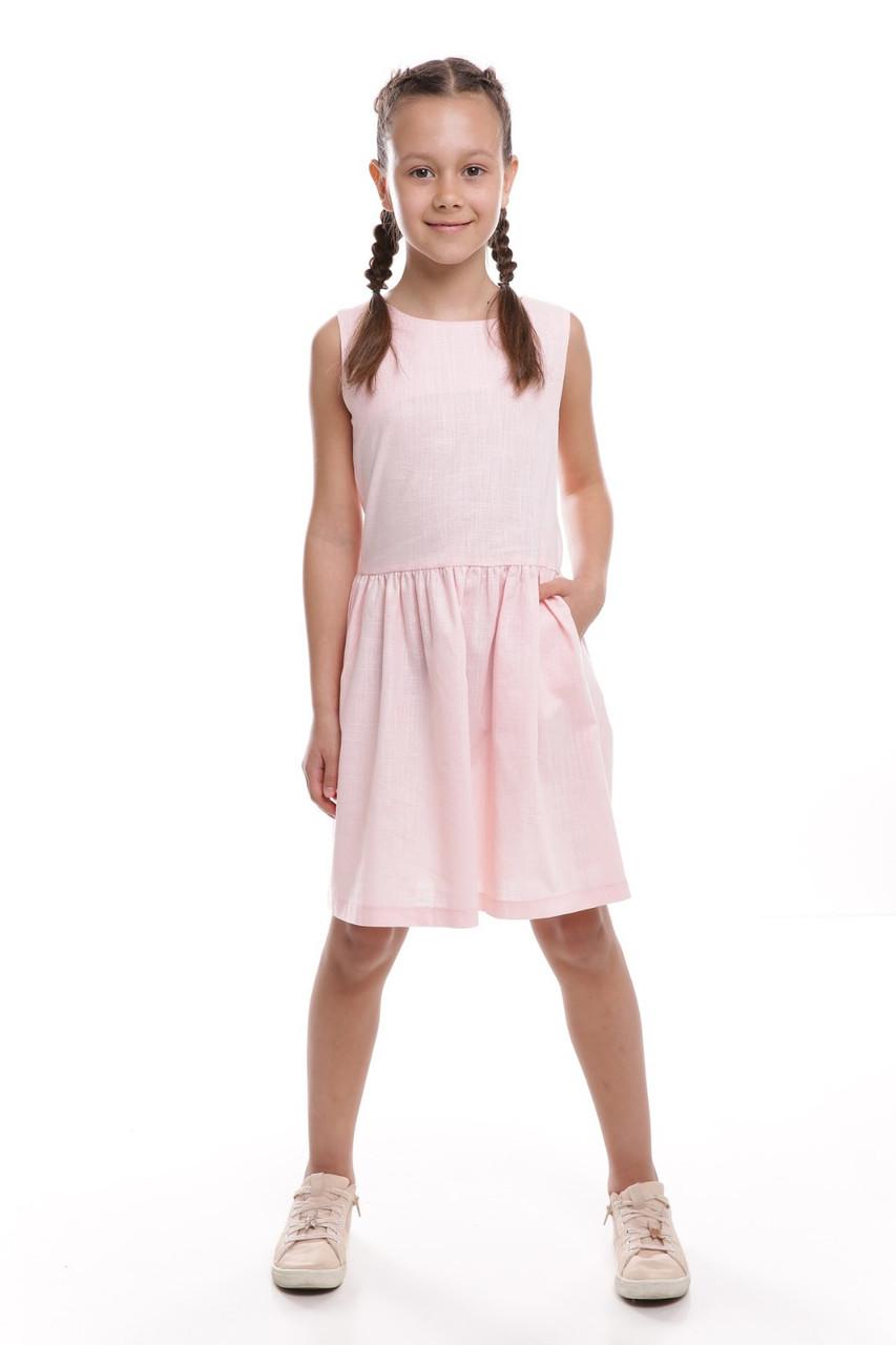 Платье детское Татьяна Филатова модель 253 летнее розовое