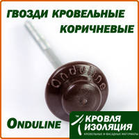 Ондулин (Onduline) гвозди кровельные, коричневые