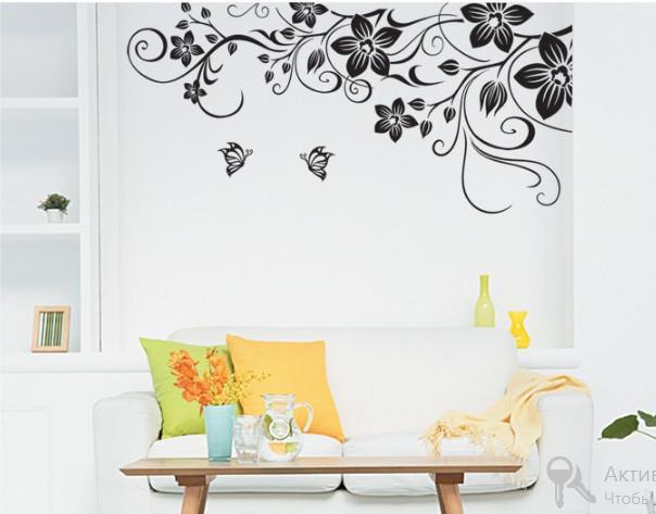 Декоративная наклейка Цветочный мотив