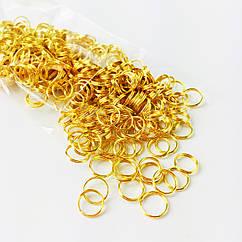 Соединительные металлические кольца, 50 г, 10 мм, золото