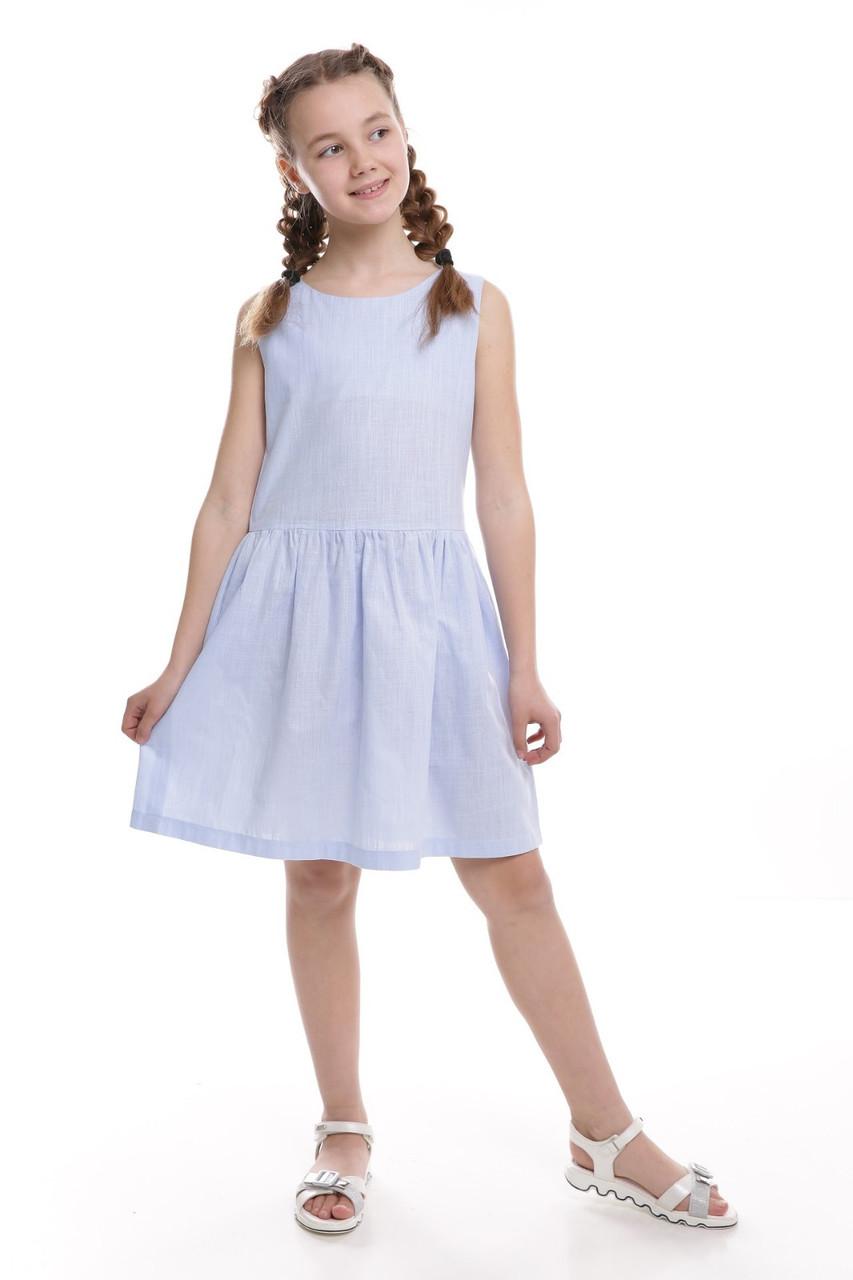 Платье детское Татьяна Филатова модель 253 летнее голубое