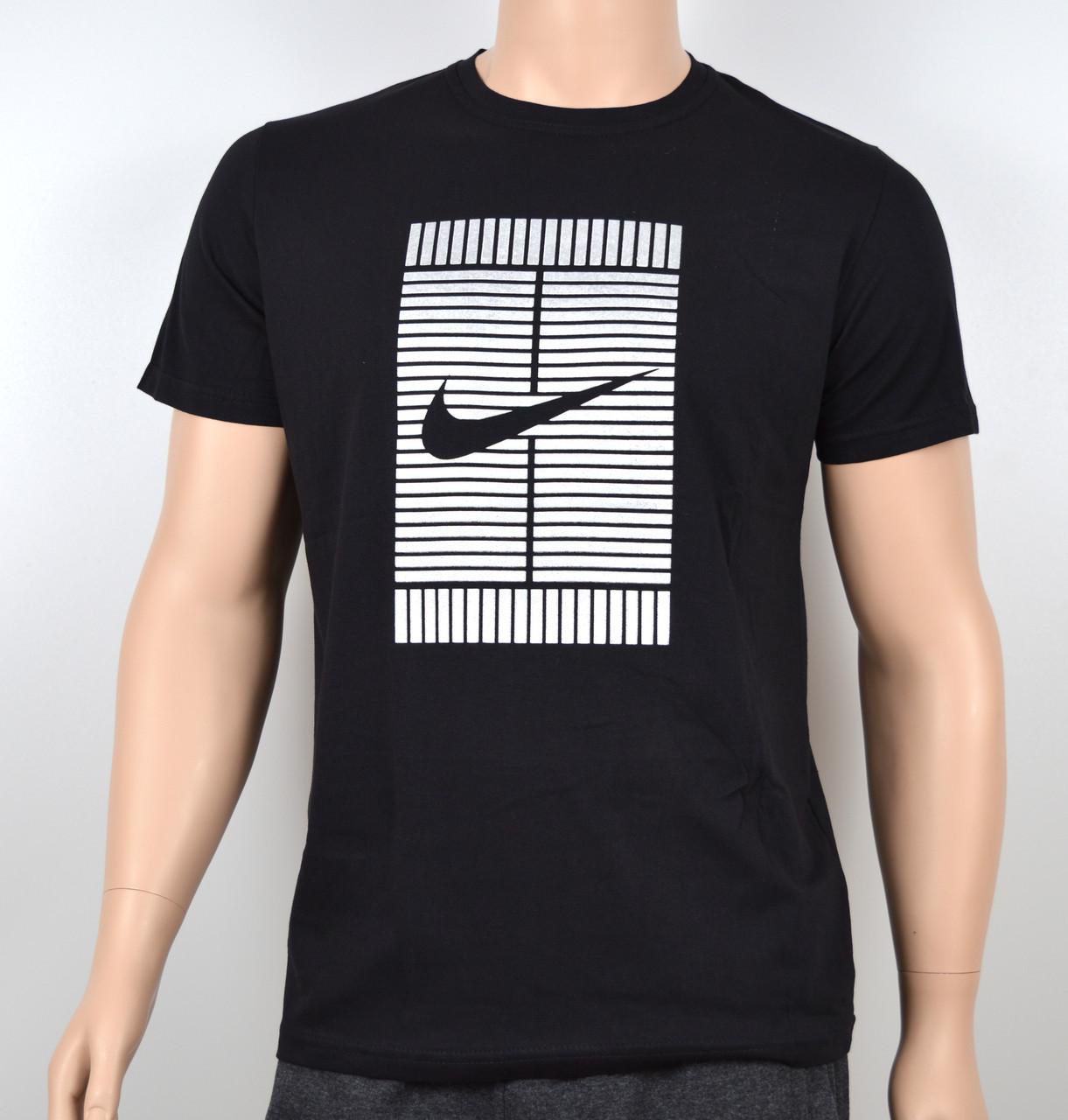 Мужская футболка Nike 100% х/б 1905 Черный