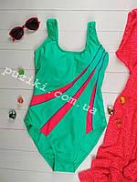 Слитный купальник в спортивном стиле для девочки подростка 34-42р