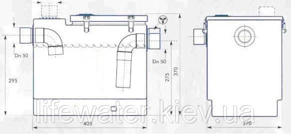 Жироуловитель под мойку DG 501 (сепаратор жира под мойку)