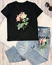 Костюм футболка и джинсы с вышивкой и пайетками, фото 8