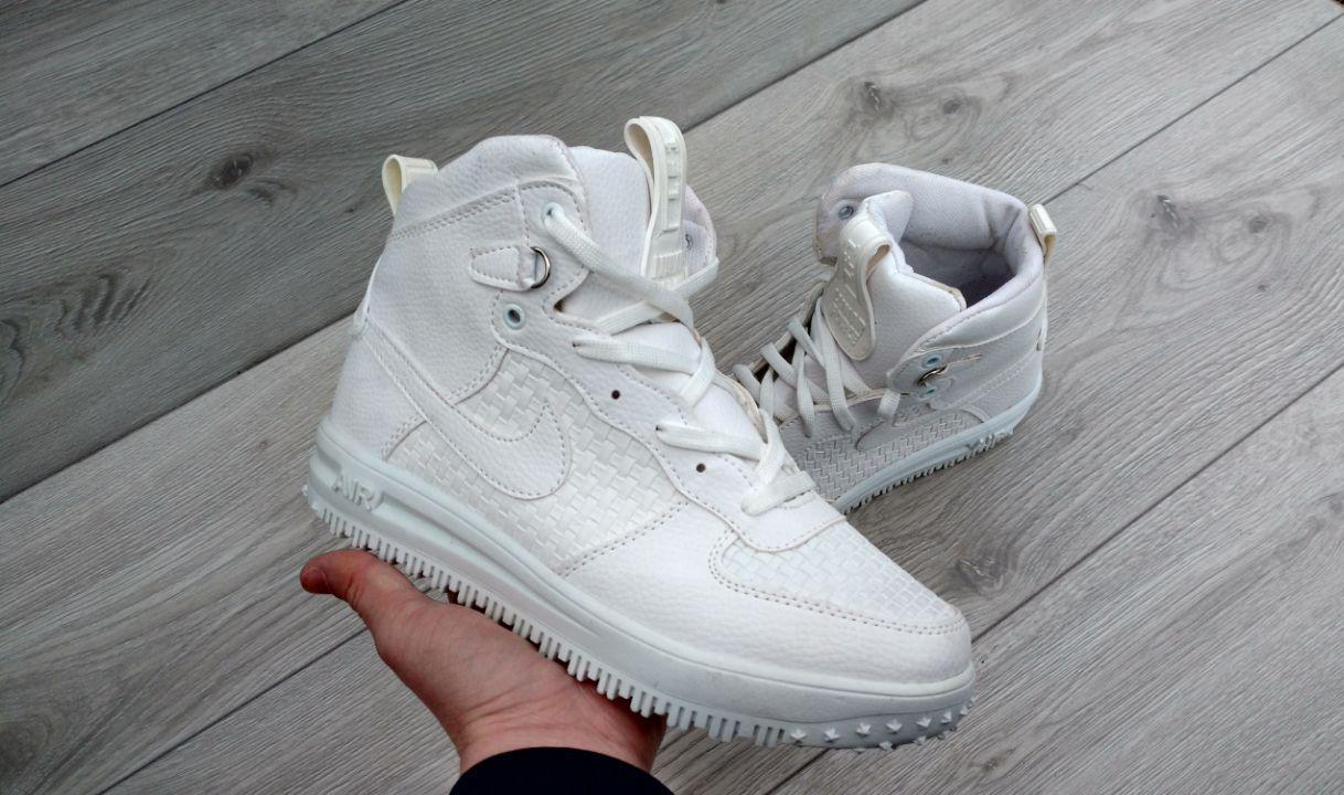 27d0e0e7 Мужские кроссовки Nike Lunar Force белые - Интернет-магазин обуви и одежды