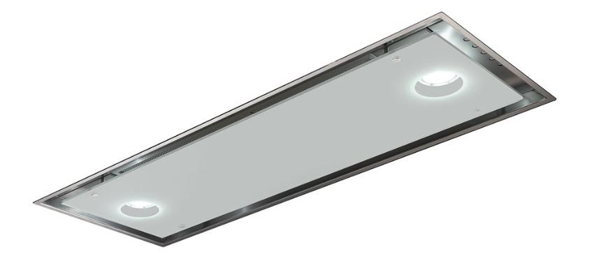 Встраиваемая вытяжка Smeg KSG74B нержавеющая сталь, белое стекло